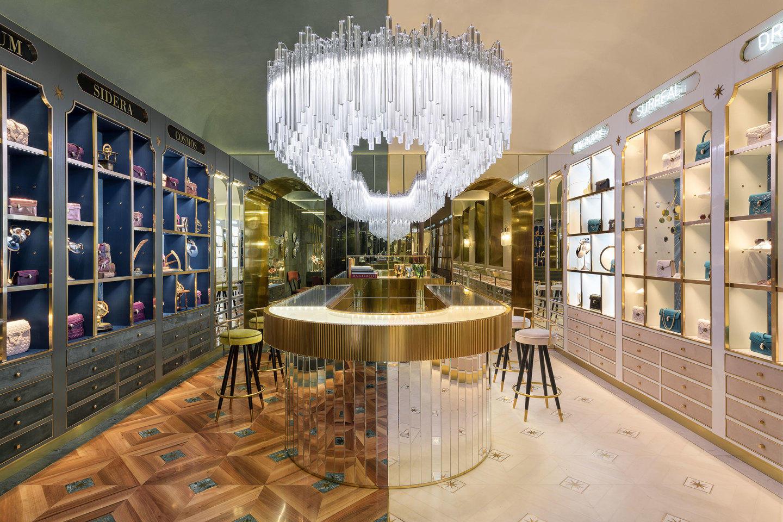 De luxe winkel van Bulgari in Rome