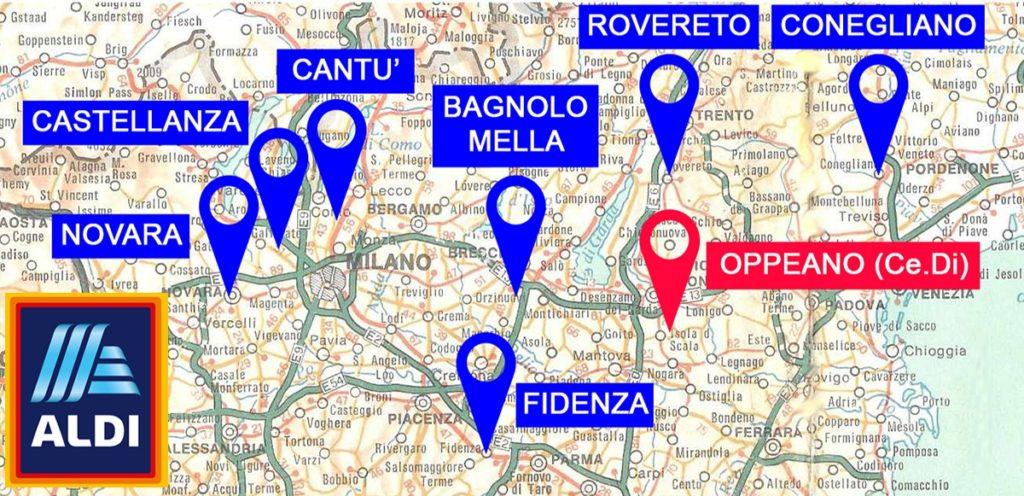 Hier komen de eerste vestigingen van Aldi in Italie