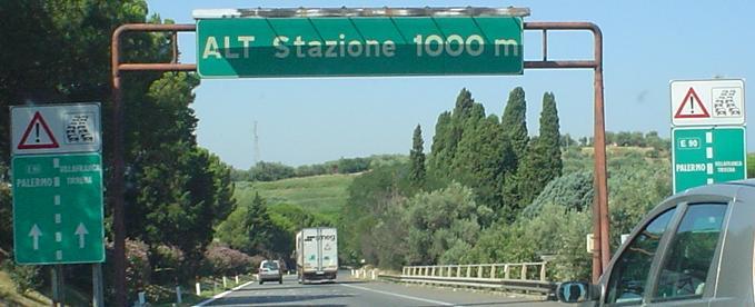 Tol op de snelweg in Italië