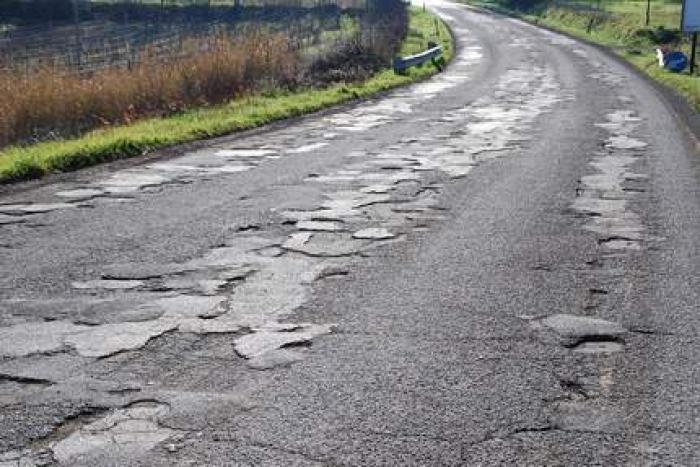 slechte wegen in Italië